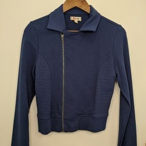 Olsenboye Navy Zippered Jacket Size M